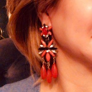 Massive Red/black Earrings